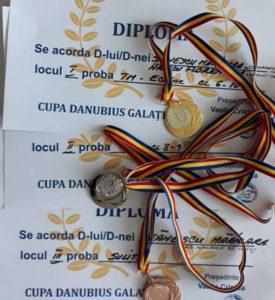 """Lugoj Expres Sportivii clubului """"Maraton'93"""" - 18 medalii la Cupa Danubius sportivi persoane cu dizabilități medalii Lugoj Galați Cupa Danubius CSHF Maraton'93 Lugoj competiție sportivă"""
