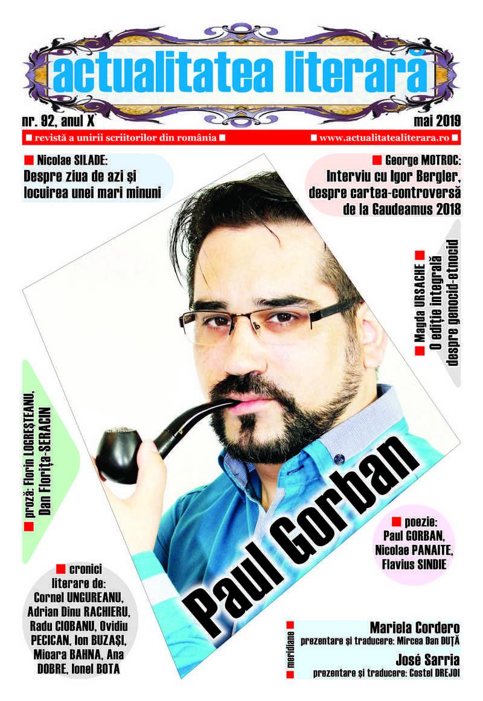 Lugoj Expres A apărut numărul 92 al revistei Actualitatea literară scriitori revistă proză poezie poeți librării cultură cronici literare actualitatea literară
