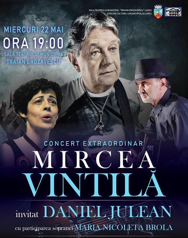 """Lugoj Expres Mircea Vintilă, în concert, la Teatrul """"Traian Grozăvescu"""" Mircea Vintilă Lugoj folk concert"""