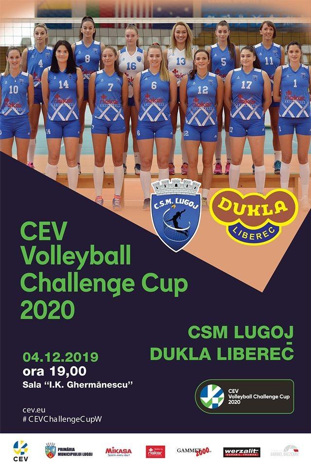 Lugoj Expres CSM Lugoj susține primul joc din istorie într-o cupă europeană voleiul lugojean volei feminin volei sport primul joc premiera istorie eveniment Dukla Liberec cupa europeană CSM Lugoj CEV Volleyball Challenge Cup