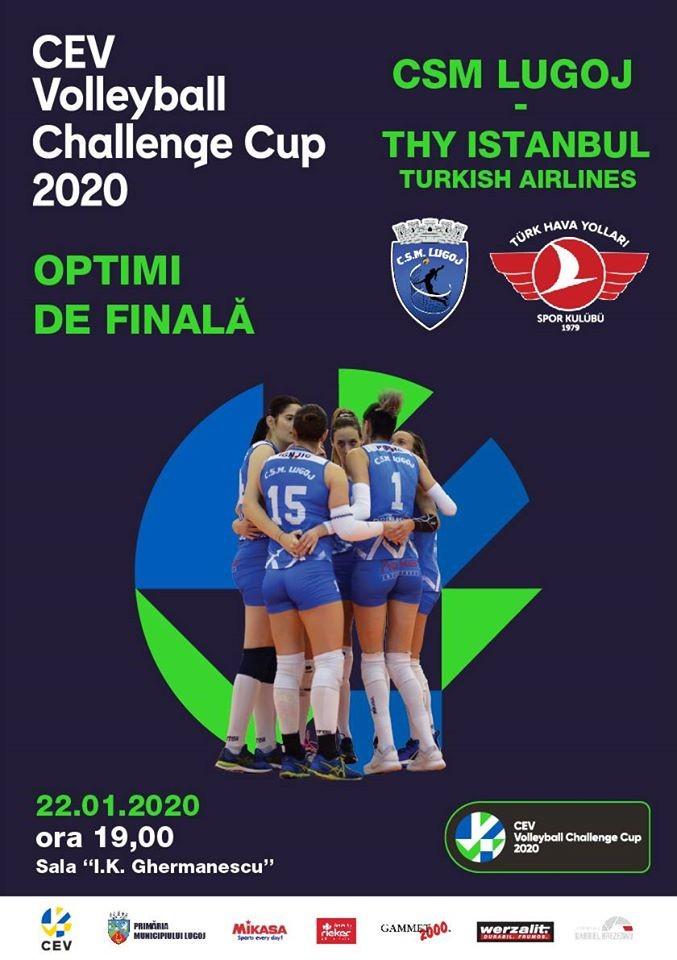 Lugoj Expres Din nou în Europa! CSM Lugoj susține primul meci din optimile de finală ale Cupei Challenge voleibaliste volei Turcia optimi de finală Lugoj Cupa Challenge CSM Lugoj