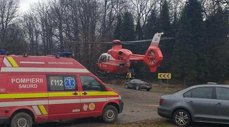 Lugoj Expres Accident grav, cu trei victime, pe DN 68A. O tânără a fost preluată de elicopterul SMURD victime vătămare corporală trei victime trafic întrerupt tânără rănită SMURD Lugoj ISU Timiș Făget elicopter SMURD dosar penal DN 68A Deva Coșevița accident grav
