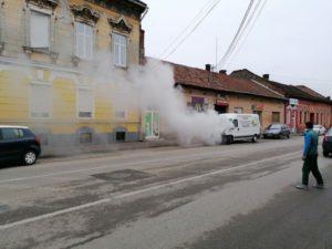Lugoj Expres microbuz incendiu Lugoj 2