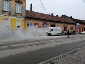 Lugoj Expres microbuz incendiu Lugoj 7