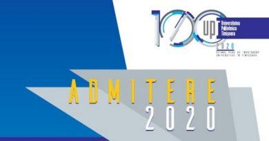 Lugoj Expres Admiterea 2020 la Universitatea Politehnica Timișoara UPT Universitatea Politehnica Timișoara universitate studii locuri cu taxă locuri bugetate licență facultate admitere UPT admitere 2020 absolvenți liceu