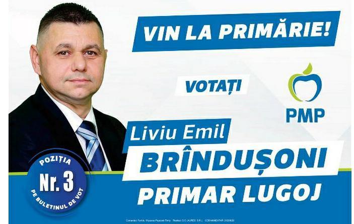 Lugoj Expres Cel mai potrivit candidat pentru Lugoj în aceste alegeri! (P) primar PMP Lugoj PMP Lugoj Liviu Brîndușoni Consiliul Local Lugoj candidat
