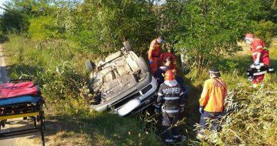 Lugoj Expres Autoturism răsturnat, în apropiere de Făget victime vătămare corporală din culpă Făget dosar penal Brănești autoturism răsturnat accident