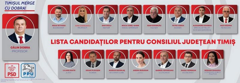 Lugoj Expres Profesioniștii din diverse domenii se regăsesc pe lista de candidați a PSD Timiș pentru Consiliul Județean Timiș (P) PSD proiecte planuri mari lista candidati PSD Timiș Consiliul Județean Timiș candidații PSD Timiș candidați Călin Dobra alegeri locale