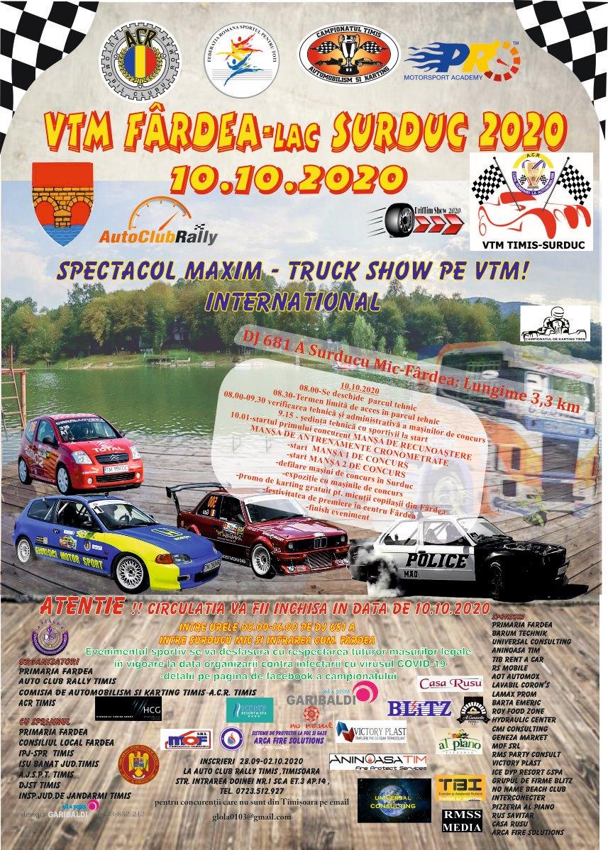 Lugoj Expres Concurs automobilistic: VTM Fârdea - Lac Surduc 2020 VTM Fârdea - Lac Surduc viteză traseu montan Surduc piloți Lacul Surduc Fârdea concurs circulație închisă automobilism ACR Timiș